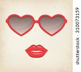 woman lips and glasses | Shutterstock .eps vector #310073159