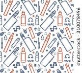 vector seamless pattern of vape ...   Shutterstock .eps vector #310078496