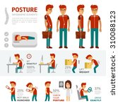 posture infographic elements.... | Shutterstock .eps vector #310088123