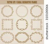 vector set of decorative hand... | Shutterstock .eps vector #310100066