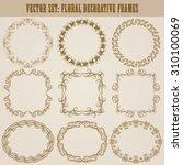 vector set of decorative hand... | Shutterstock .eps vector #310100069