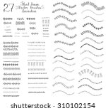 set of hand drawn floral... | Shutterstock .eps vector #310102154