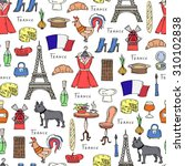 vector seamless pattern on the... | Shutterstock .eps vector #310102838