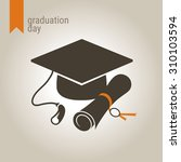 graduation day icon.... | Shutterstock .eps vector #310103594