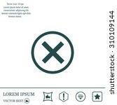 delete icon. cross sign in... | Shutterstock .eps vector #310109144