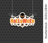 seasonal halloween decoration... | Shutterstock .eps vector #310111844
