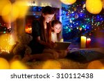 young mother and her daughter... | Shutterstock . vector #310112438