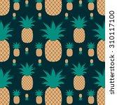 pineapple pattern | Shutterstock .eps vector #310117100