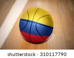basketball ball with the...   Shutterstock . vector #310117790