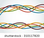 abstract colorful wire... | Shutterstock .eps vector #310117820