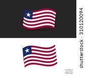 illustration of waving liberia ... | Shutterstock .eps vector #310120094