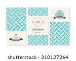 vector set of cards  wedding... | Shutterstock .eps vector #310127264