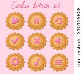 set of cookie buttons for game