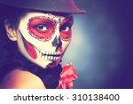 Sugar Skull Girl In Hat  Studi...
