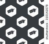 image of burning envelope in... | Shutterstock . vector #310142078