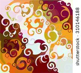 curls and waves   abstract... | Shutterstock .eps vector #310146188