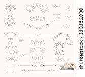 vintage vector ornaments... | Shutterstock .eps vector #310151030