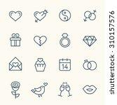 love line icons | Shutterstock .eps vector #310157576
