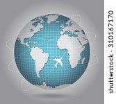 globe  earth  blue planet | Shutterstock .eps vector #310167170