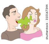 an image of a cartoon of a... | Shutterstock .eps vector #310167344