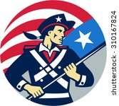 illustration of an american... | Shutterstock .eps vector #310167824