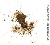 Small photo of Mud splat pattern isolated on a white background.