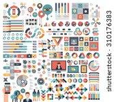 vectors info graphics set and... | Shutterstock .eps vector #310176383