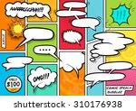 Comic Book Speech Bubbles vector set. | Shutterstock vector #310176938