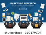 marketing research concept... | Shutterstock .eps vector #310179104