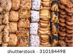 sweet pastry  puff pastry with... | Shutterstock . vector #310184498
