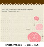 roses greetings card template | Shutterstock .eps vector #31018465