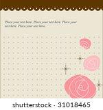 roses greetings card template | Shutterstock .eps vector #31018465