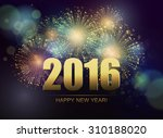 vector holiday fireworks... | Shutterstock .eps vector #310188020