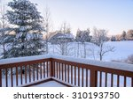 Back Deck Winter View