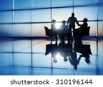 business people meeting... | Shutterstock . vector #310196144
