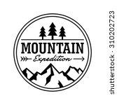 hipstermountain logo template | Shutterstock .eps vector #310202723