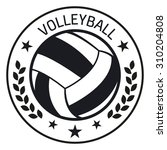volleyball club labels with... | Shutterstock .eps vector #310204808