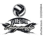 volleyball club labels with... | Shutterstock .eps vector #310204844