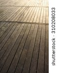 wooden boardwalk trail at sunset | Shutterstock . vector #310208033