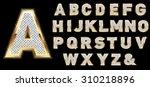 golden diamond shiny letters...