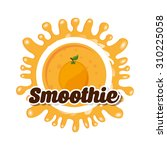 delicious smoothie design ... | Shutterstock .eps vector #310225058