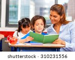 teacher and multi race... | Shutterstock . vector #310231556