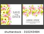 wedding invitation cards with... | Shutterstock .eps vector #310243484