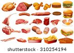 different kind of meat and food ... | Shutterstock .eps vector #310254194