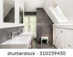 Small Modern Bathroom With...