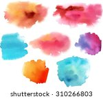 a set of abstract watercolour... | Shutterstock .eps vector #310266803