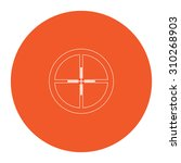 crosshair. flat outline white...