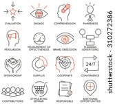 vector set of 16 icons related... | Shutterstock .eps vector #310272386