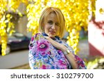 portrait of a cute woman in... | Shutterstock . vector #310279700