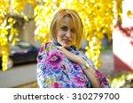 portrait of a cute woman in... | Shutterstock . vector #310279700